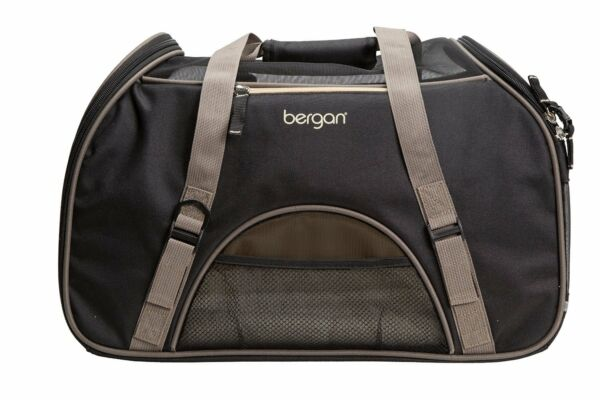 Bergan LARGE Comfort Carrier Black Brown for small Pets Dog or Cat $56.99