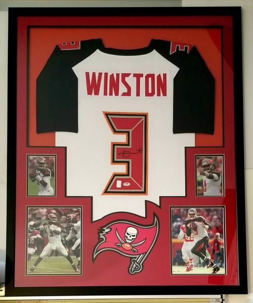 Jameis Winston Autographed Signed Jersey Framed Tampa Bay Buccaneers PSA DNA