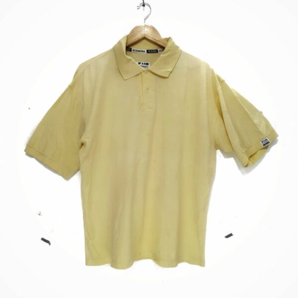 ICE ICEBERG JEANS Yellow Polo Casual Tee Shirt Made In Italy History Gilmar $45.50
