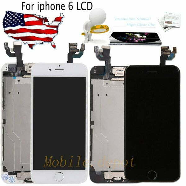 OEM iPhone 6 A1549 A1586 LCD Touch Screen Replacement with Home Button+Camera