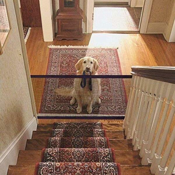 Stairs Gate For Pets Net Barrier For Stairs Safety Gate For Pets 110 x 72 cm NEW