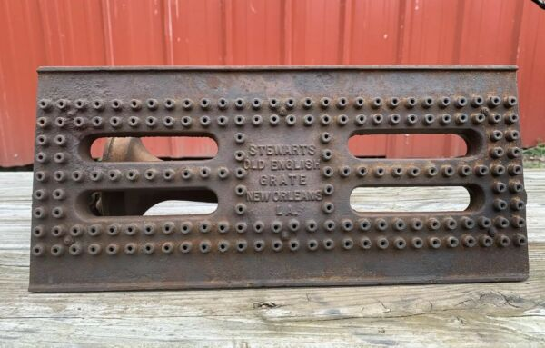 VINTAGE CAST IRON FIREPLACE FIRE BOX  BASKET BURNER Stewarts English Grate
