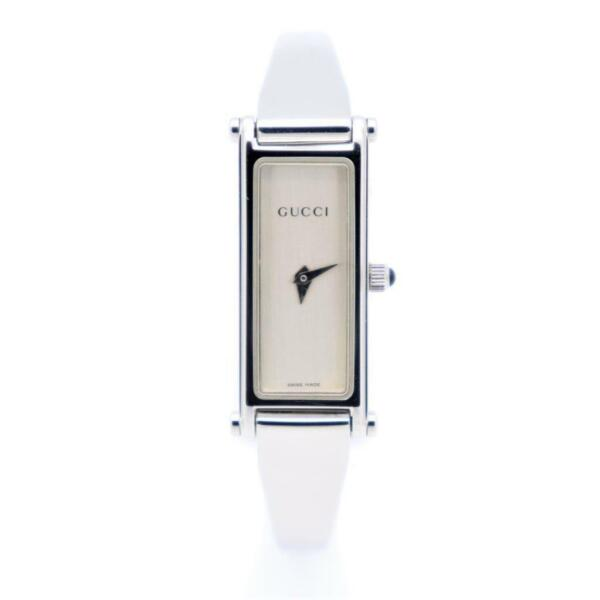 Gucci 1500 Quartz Stainless Steel Women#x27;s Casual Watch 1500L Used