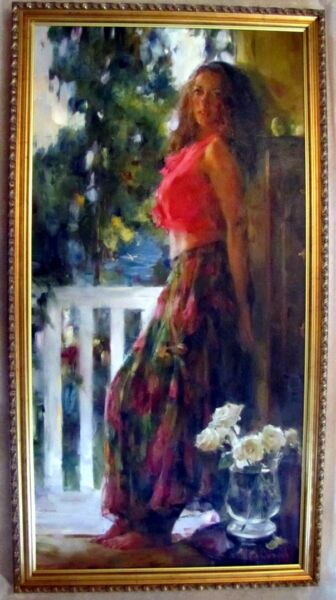 MICHAEL & INESSA GARMASH  - BEAUTY - ORIGINAL PAINTING CANVAS - OFFERS WELCOME
