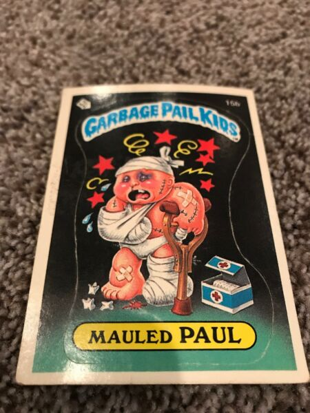 MAULED PAUL - 15b - MATTE - 1985 GARBAGE PAIL KIDS ORIGINAL SERIES 1 OS1