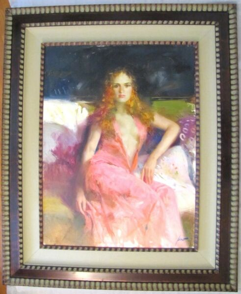 PINO DAENI - ALONE II - 40x30 - ORIGINAL OIL ON CANVAS PAINTING - OFFERS WELCOME