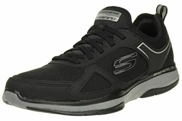 NEW Skechers Mens Burst Air Cooled Memory Foam Athletic Shoe Black Navy PICK SZ