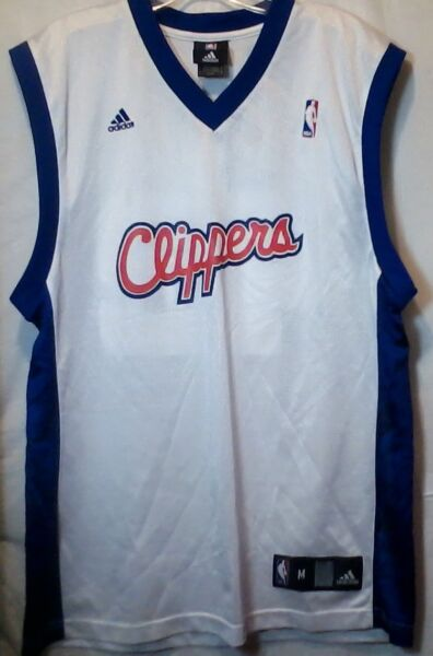 Adidas Los Angeles LA Clippers NBA Player Elton Brand 42 Jersey Screen Print Med