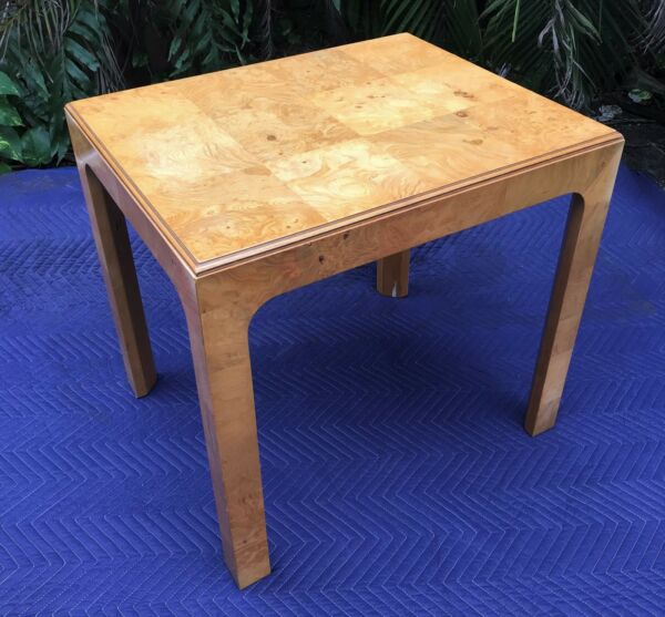 Vintage Milo Baughman Style Burl Table From Henredon Scene Two Collection