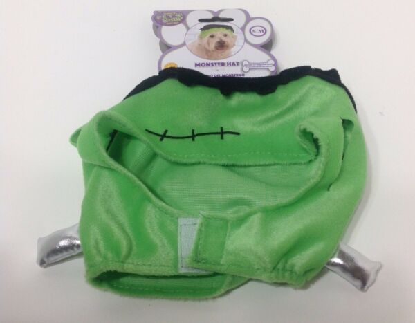 NWT RUBIES PET SHOP BOUTIQUE MONSTER GREEN HAT COSTUME FOR DOGS SMALL MEDIUM $6.99