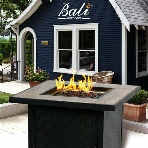 Propane Gas Firepits Outdoor Gas Fire Table 30-in 50000-BTU BALI OUTDOORS LP