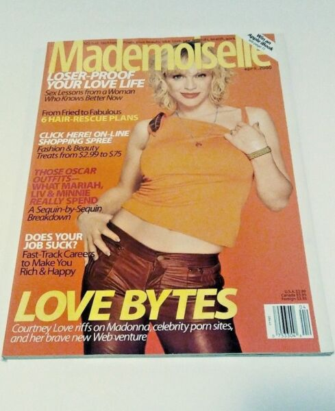 Mademoiselle April 2000 Courtney Love Cover Good Condition $14.99
