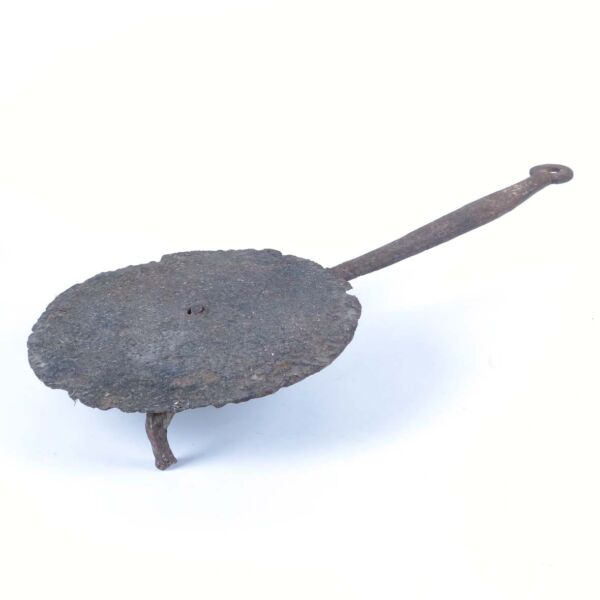 Antique salamander wrought iron hearth ware cooking 18th c fireplace as is