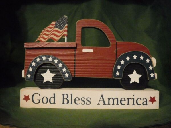 July 4th VINTAGE RED TRUCK 9