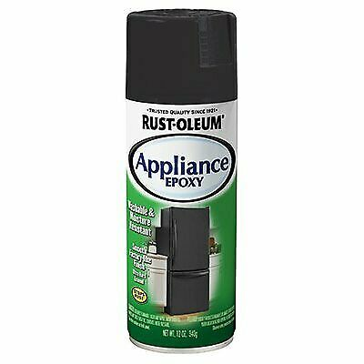 RUST-OLEUM 330146 12 OZ Black Stainless Appliance Enamel