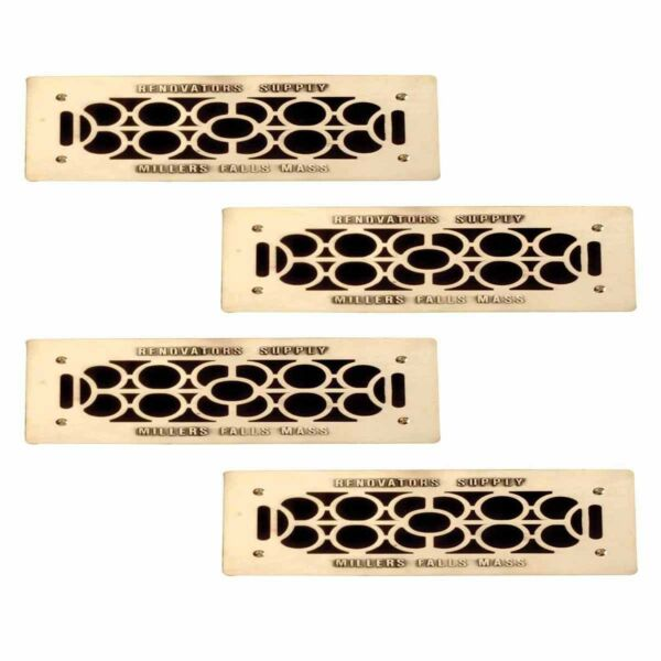 4 Floor Wall Heat Air Grill Vent Grate Solid Brass 4.75