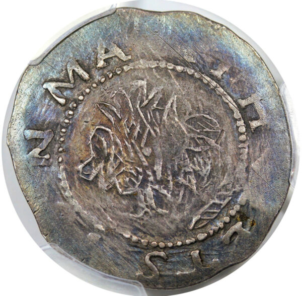 1652 Noe 3-c R-6 PCGS XF Details Willow Tree Shilling Colonial Silver Coin