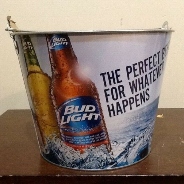 BUD LIGHT BEER GALVANIZED PARTY PAIL BUD LIGHT LIME