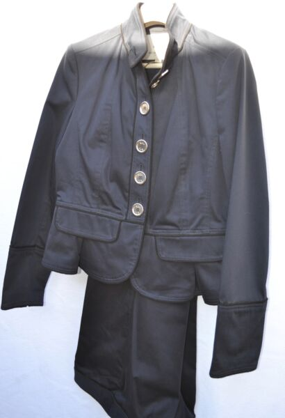 Authentic Burberry set jacket = size 10 and pants = size 12 dark blue $179.00
