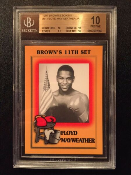 1997 Browns Boxing #51 Floyd Mayweather Jr Rookie RC BGS 10 PRISTINE