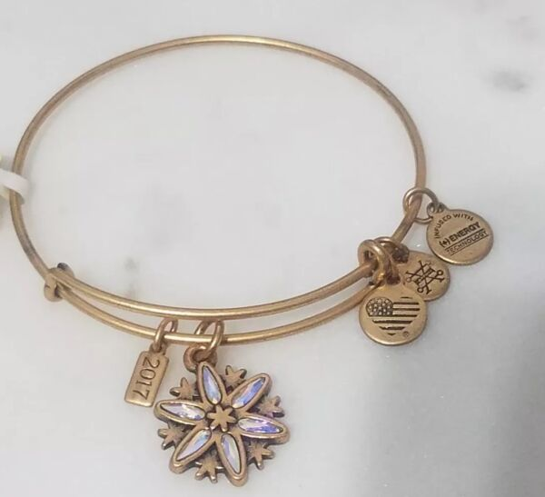 Alex and Ani Snowflake Bangle Charm Bracelet Black Friday 2017 Rafaelian Gold