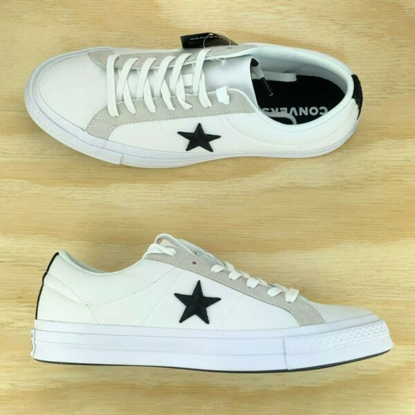 Converse One Star Pro Ox White Black Grey Casual Skating Shoes 160601C Size