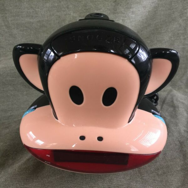 Paul Frank Julius The Monkey PF254 Projection Alarm Clock Radio AMFM