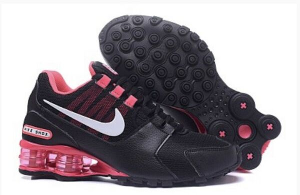 HOT NEW WOMEN Nike Shox Avenue Running Shoes Black/Pink