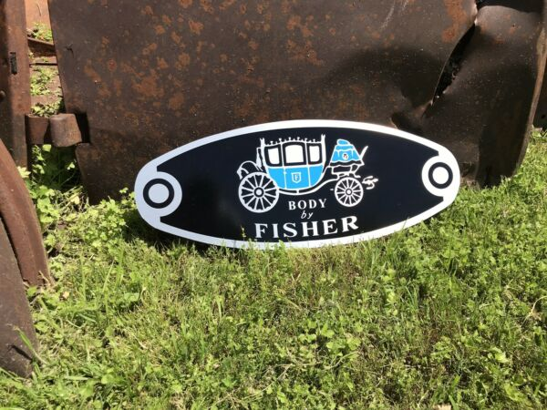 Antique Vintage Old Style Body By Fisher Sign