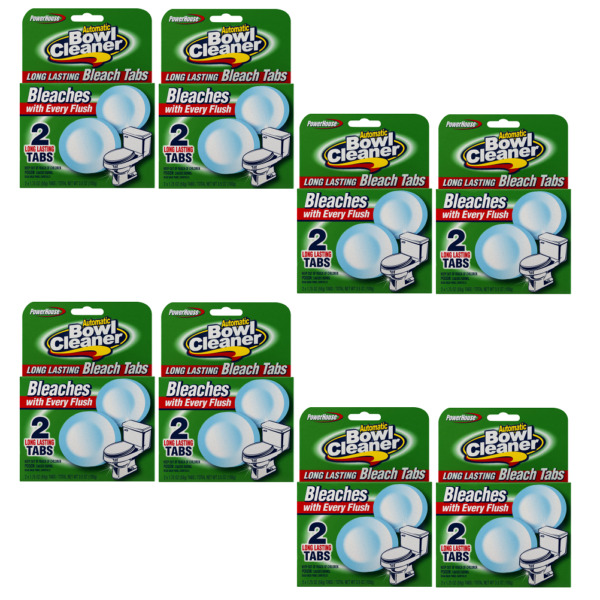 16 Tabs Power House Automatic Toilet Bowl Cleaner Bleaches (Total 8 Packs)