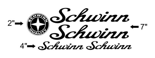 Custom Schwinn Bike Frame Decal Set. Pick Your Color. USA Seller $8.50