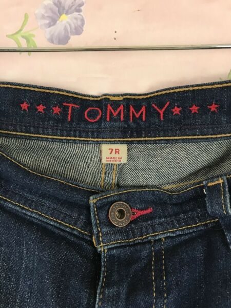 Tommy Women#x27;s Jeans 7R Boot Cut Flare Distressed $11.95
