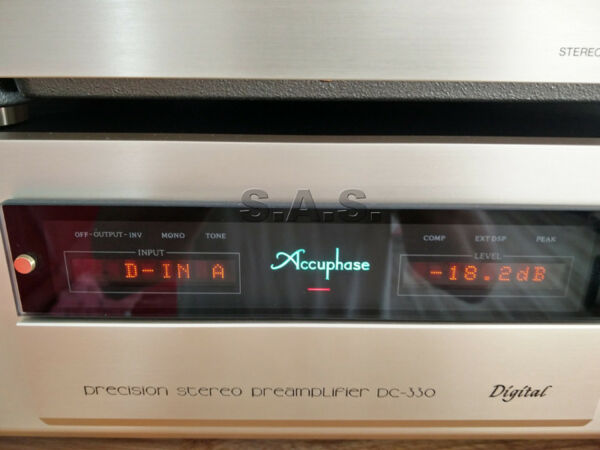 ACCUPHASE DC-330 DIGITAL PRE-AMP + MANY OPTION CARDS - PRISTINE