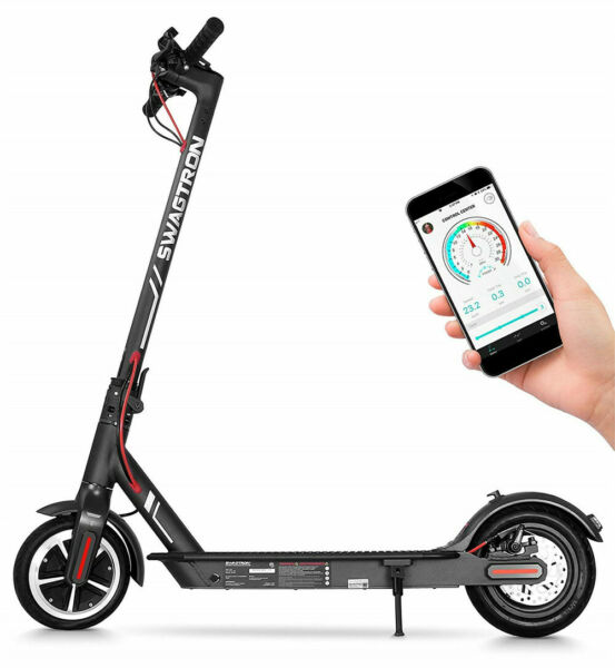 Swagtron High Speed Electric Scooter Cruise Control 1-Step Portable Folding Swg5