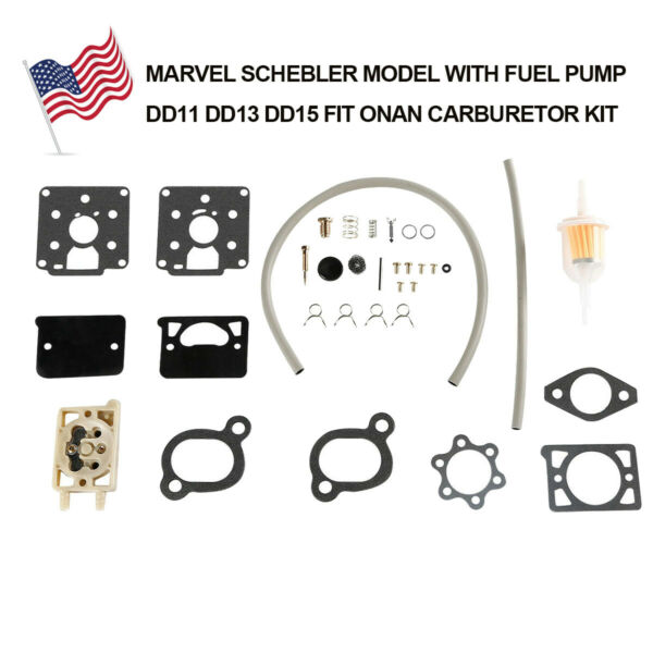 CARBURETOR Rebuild KIT DD11 DD13 DD15 Fit For ONAN BF BG B43M B48M WITH FUEL PUM