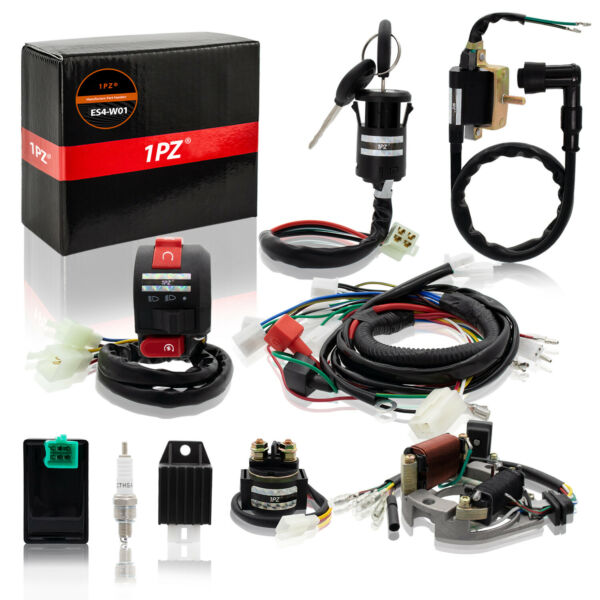 Complete Stator Wiring Harness CDI Ignition Coil Solenoid ATV Bike 50cc 125cc $45.99