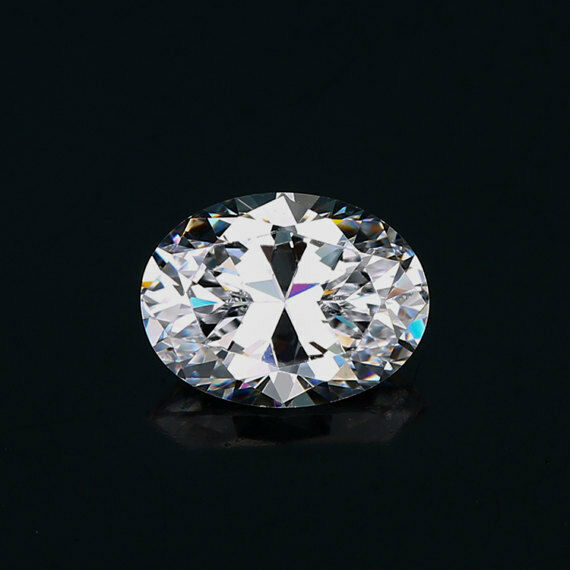 White colour cubic zirconia AAAAA loose gemstone Oval CZ  For Jewelry making