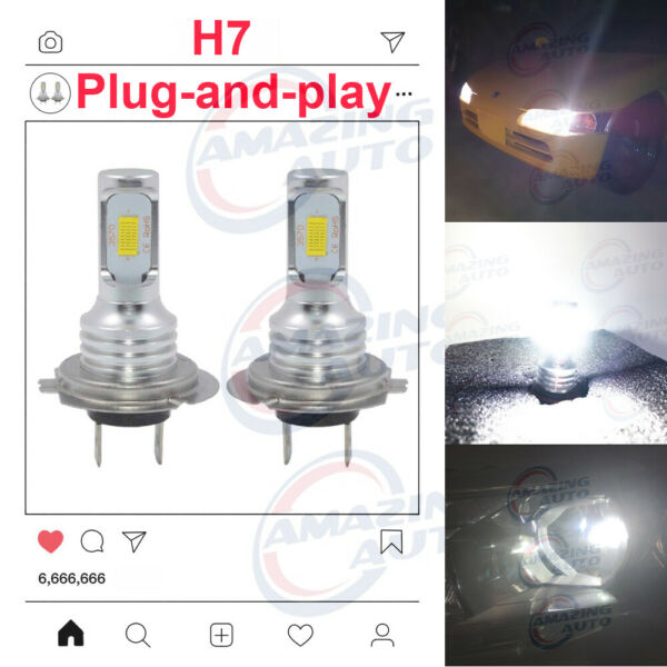 2020 NEW H7 LED Headlights Bulbs Professional Kit Canbus 35W 3000LM 3000K Yellow