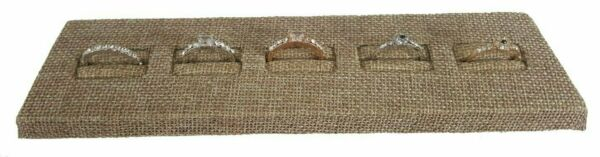 Burlap Ring Display Stand for Showcase Burlap Ring Display Slotted Stand