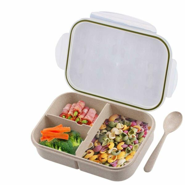 Bento Box for Kids Leakproof With 3 Compartments FDA Approved and BPA-Free