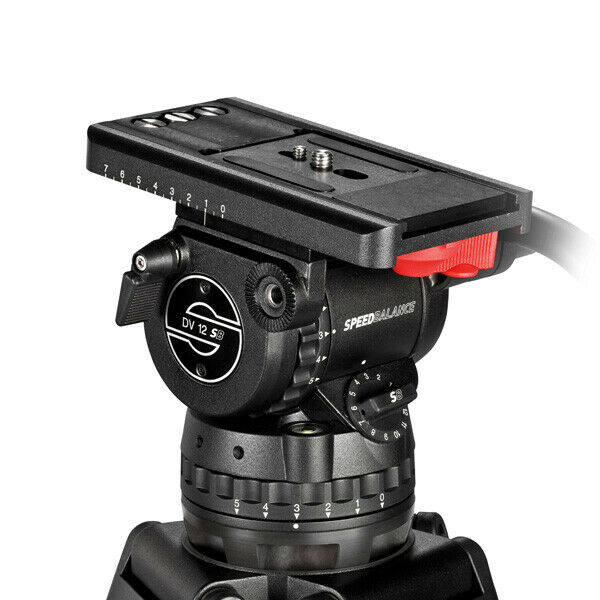 New Sachtler DV 12SB Fluid Head Package 100mm Ball Base MFR # 1205