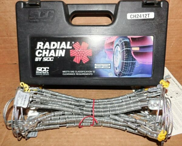 SCC Radial Cable Tire Snow Chains Stock # SC1034 or CH2412T Never Used