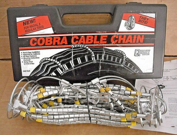 Cobra Cable Tire Snow Chains Stock #1022 Never Used
