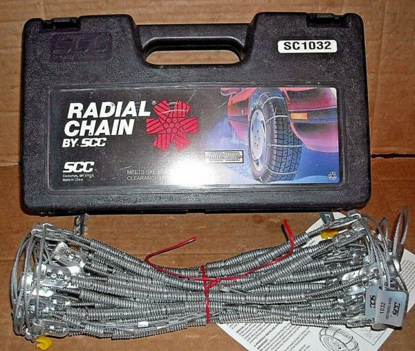 SCC Radial Cable Tire Snow Chains - Stock # SC1032 - Never Used