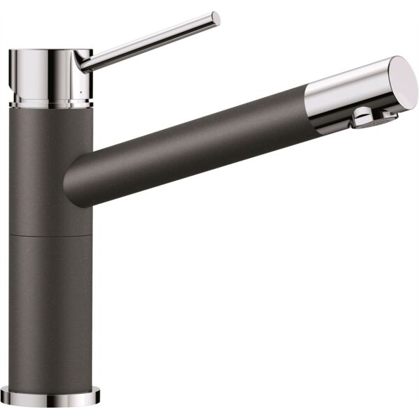 Blanco ALTA ANTHRACITE MIXER TAP 360° Swivel Spout Dual Finish Design