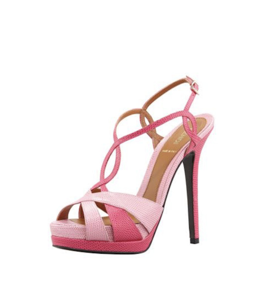Fendi Twisted T Strap Two Tone Sandals
