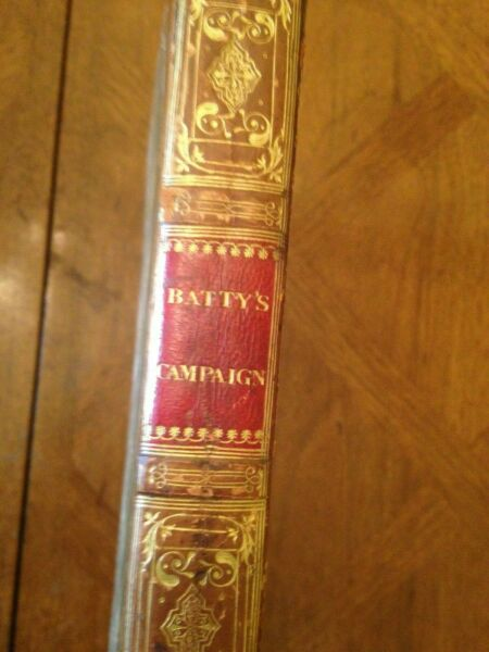 Campaign of the Left Wing of the Allied Army by Robert Batty (1st ed 1823)