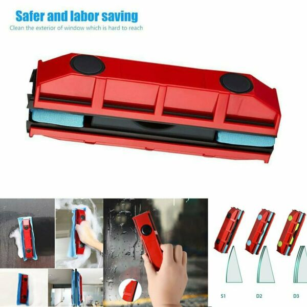 Magnetic Glazed Window Wiper Cleaner Double-Side Brushes Glass Wiper Cleaning