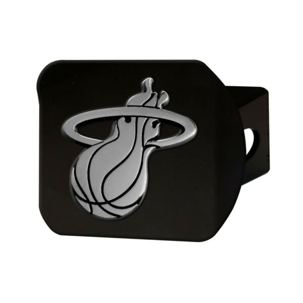 Fanmats NBA Miami Heat 3D Chrome on Black Metal Hitch Cover Delivery 2 4 Days $21.99