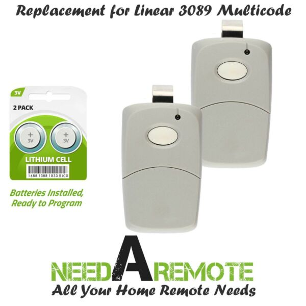 2 For Multi Code 3089 MultiCode 308911 Linear MCS308911 Garage Gate Remote 300m $14.95